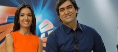 Patrícia Poeta e Zeca Camargo já apresentaram o 'Fantástico' juntos. (Arquivo Blasting News)