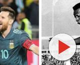 Messi et Pelé, deux des plus grands joueurs de l'Amérique du Sud. Credit: Instagrama/faseleccion/