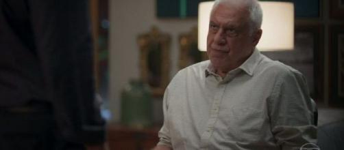 Alberto diz que já sabia do relacionamento. (Reprodução/TV Globo)