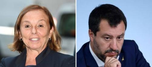 Il ministro dell'interno Lamorgese e l'ex ministro Salvini