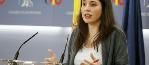 La portavoz parlamentaria de Unidas Podemos, Irene Montero, en una imagen de archivo.