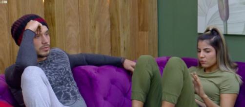 Lucas critica resposta de Hariany para questionamento de Mion. (Reprodução/Record TV)