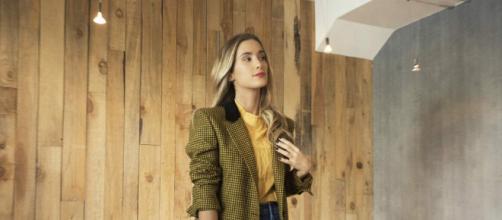 María Pombo posando con uno de sus 'looks'