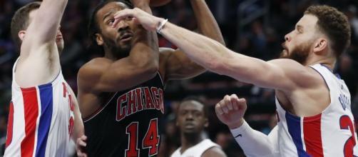 Pistons e Bulls se enfrentaram em jogo duro. (Arquivo Blasting News)