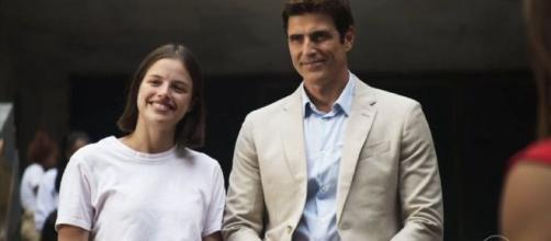 Régis e Jô gravam cenas finais da novela 'A Dona do Pedaço'. (Reprodução/ TV Globo)