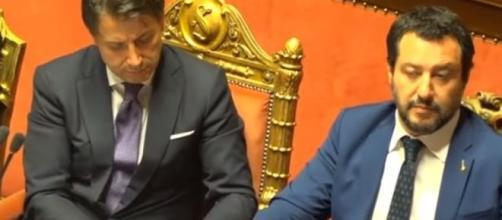 Giuseppe COnte e Matteo Salvini quando erano parte dello stesso governo.
