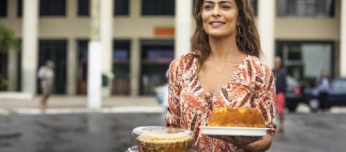 Maria da Paz já avisa para o telespectador para preparar um bolo e acompanhar o capítulo com mais duração. (Arquivo Blasting News)