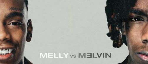 Album cover for Melly vs Melvin. [image source: YNW Melly- YouTube]
