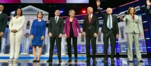 Highlights from the 5th Democratic presidential debate. [Image source/ABC News YouTube video]