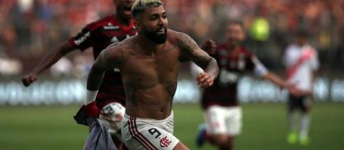L'esultanza di Gabigol: grazie alla sua doppietta il Flamengo torna sul trono del Sudamerica