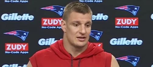 Gronkowski has no plan to return to the Patriots this season. [Image Source: New England Patriots/YouTube]