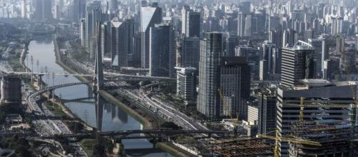 Vista aérea de São Paulo, Brasil.
