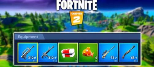 'Fortnite' players can carry 6 inventory items. [Source: In-game screenshot]