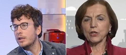 Il filosofo Diego Fusaro e l'ex Ministro Elsa Fornero.