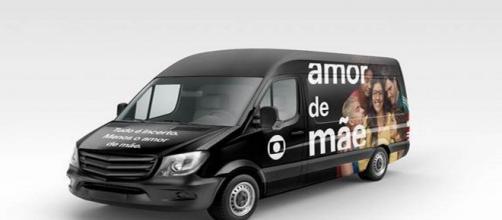 """Van customizada de """"Amor de Mãe"""" vai circular pelo Distrito Federal. (Divulgação/TV Globo)"""
