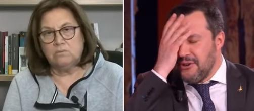 Lucia Annunziata e Matteo Salvini.