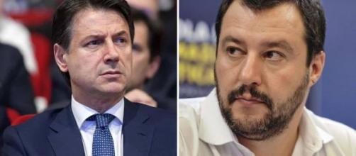 Il premier Conte e l'ex vicepremier Salvini.