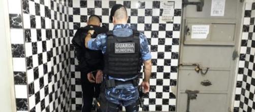 Lucas foi preso pela Guarda Municipal e levado para a delegacia. (Divulgação/Guarda Municipal)