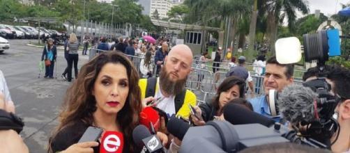 Luiza Ambiel ficou marcada por quadro polêmico do 'Domingo Legal'. (Reprodução/TV Globo)