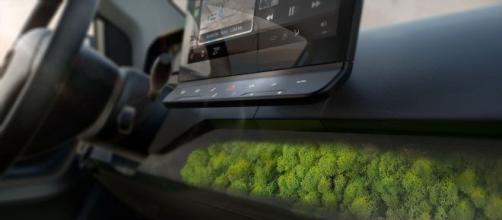 Interior do Sono Sion e o seu filtro de ar natural (musgo)