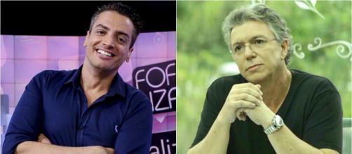 Leo Dias pede vaga no BBB20 a Boninho. (Fotomontagem)