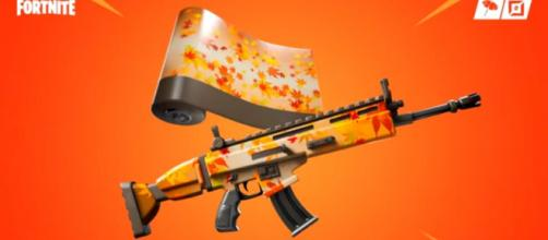 The previously leaked wrap in 'Fortnite.' [Image source: Tabor Hill/YouTube]