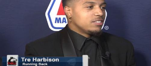 Tre Harbison is on the move. [Image via Cleveland.com/YouTube]