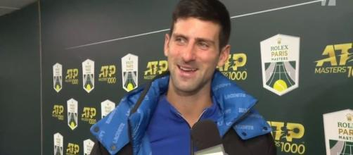 Novak Djokovic at 2019 Paris Masters [image source: Tennis Channel - YouTube]