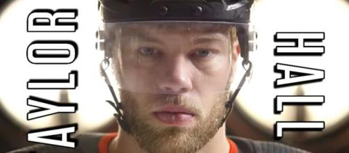 Trade packages for Taylor Hall include sending him back to The Oilers. [image source: Sportsnet- YouTube]