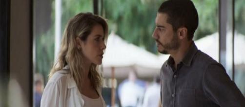 """Camilo não perdoa Yohana em """"A Dona do Pedaço"""". (Reprodução/TV Globo)"""
