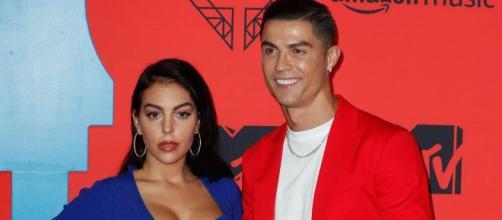 Georgina junto a Cristinao Ronaldo