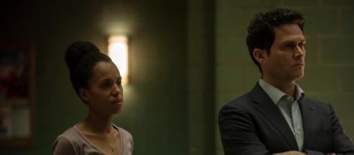 Kerry Washington e Steven Pasquale estão em 'American Son'. (Reprodução/Netflix)