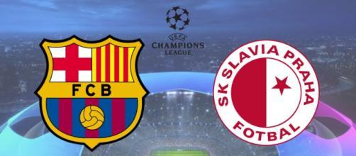 Barcelona x Slavia Praga terá transmissão ao vivo e exclusiva na TNT. (Fotomontagem)