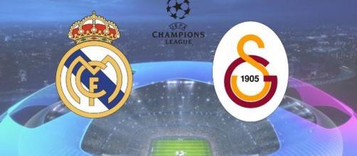 Real Madrid e Galatasaray se enfrentam com transmissão ao vivo na internet. (Fotomontagem)