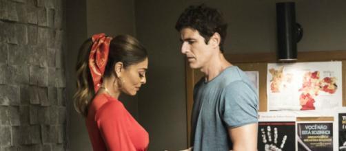 Maria da Paz e Régis em cena da reta final da novela das 21h. (Reprodução/Rede Globo)