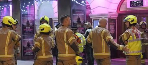 Piccadilly Theatre emergency: Ceiling collapses on audience at major London West End show. [Image source/The News 247 YouTube video]