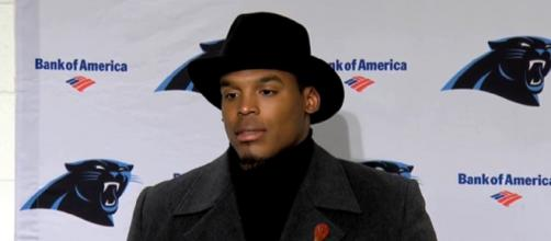 Newton won the Most Valuable Player award in 2015 (Image Credit: Carolina Panthers/YouTube)