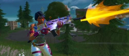 SCAR was nerfed in the latest 'Fortnite' update. [Image source: In-game screenshot]