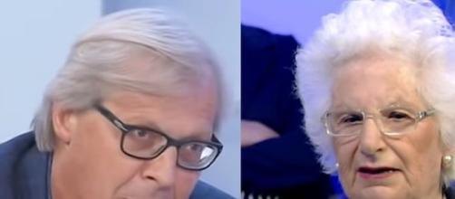 Vittorio Sgarbi e Liliana Segre
