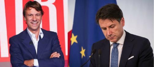 Il giornalista Nicola Porro e il Presidente del Consiglio Giuseppe Conte.