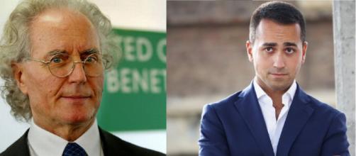 Luciano Benetton e Luigi Di Maio