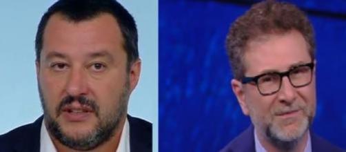 Matteo Salvini torna ad attaccare Fabio Fazio per i suoi compensi.