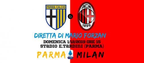 Serie A: Giornata 14: Parma - Milan in diretta alle 15