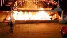 Brindisi, incendio in un lido a Campo di Mare, distrutto un gazebo: forse è dolo