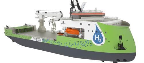 Dibujo del buque Ulstein cero emisiones