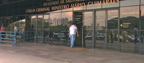 Fachada do Fórum da Barra Funda, zona oeste de São Paulo. (Reprodução/TV Globo)