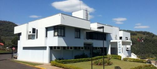 Fórum de Tangará, onde foi feita a decisão. (TJSC/Divulgação)