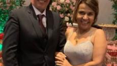 Após ter alta, Claudia Rodrigues vai a casamento e rebate fake news sobre sua morte