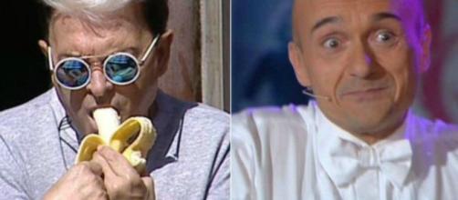 a sinistra Cristiano Malgioglio e a destra Alfonso Signorini