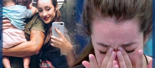 Adara no puede evitar las lágrimas al recordar a su hijo
